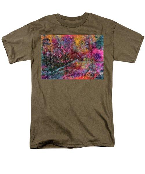 When Cherry Blossoms Fall Men's T-Shirt  (Regular Fit) by Donna Blackhall