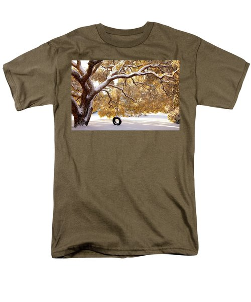 When Winter Blooms Men's T-Shirt  (Regular Fit) by Karen Wiles