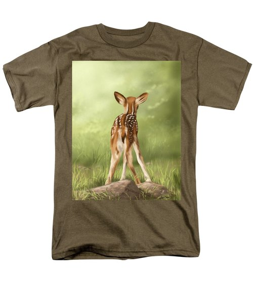Men's T-Shirt  (Regular Fit) featuring the painting Where Is My Mom? by Veronica Minozzi