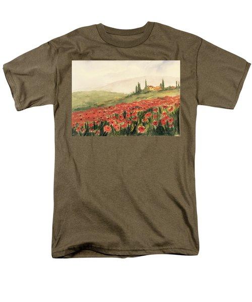 Where Poppies Grow Men's T-Shirt  (Regular Fit) by Heidi Patricio-Nadon