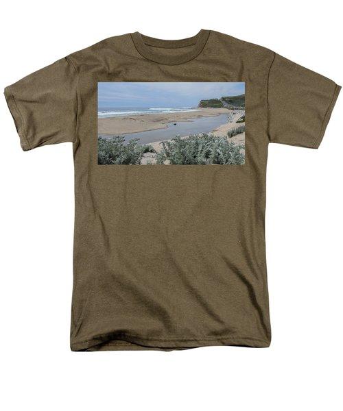 Where Scott Creek Meets The Ocean Men's T-Shirt  (Regular Fit)