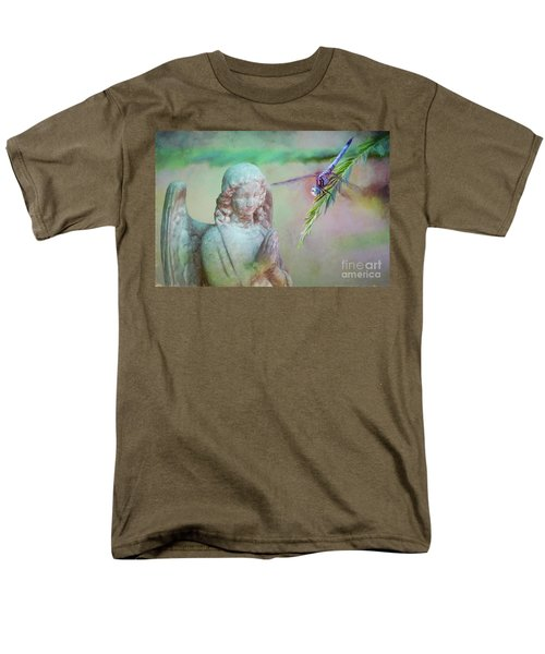 Men's T-Shirt  (Regular Fit) featuring the photograph Whisper Of Angel Wings by Bonnie Barry