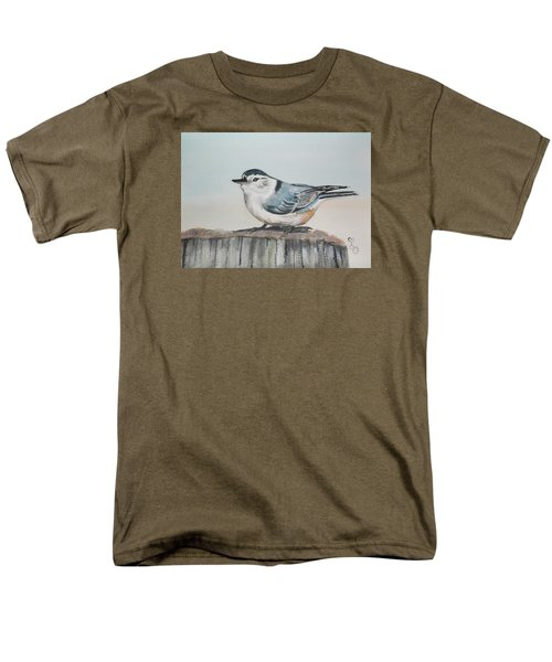 White Breasted Nuthatch Men's T-Shirt  (Regular Fit) by Carole Robins