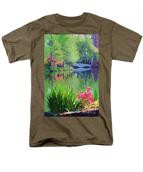 White Bridge Men's T-Shirt  (Regular Fit) by Donna Bentley