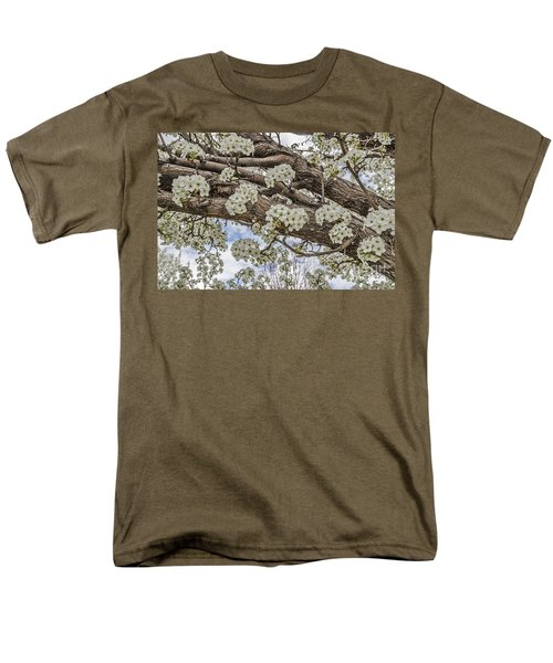 White Crabapple Blossoms Men's T-Shirt  (Regular Fit) by Sue Smith