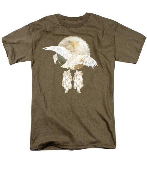 Men's T-Shirt  (Regular Fit) featuring the mixed media White Eagle Dreams by Carol Cavalaris