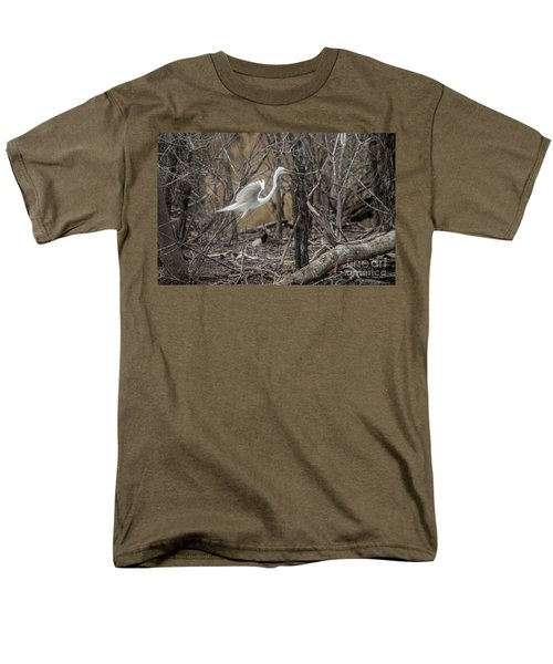Men's T-Shirt  (Regular Fit) featuring the photograph White Egret by David Bearden