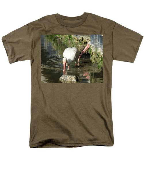 White Ibis Couple Men's T-Shirt  (Regular Fit) by George Randy Bass