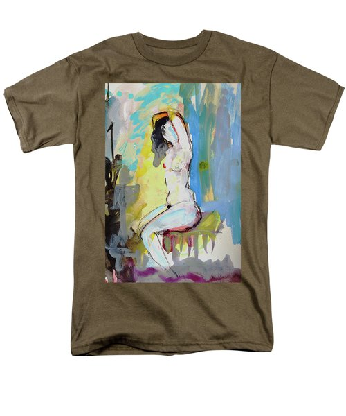 White Nude And Bird Men's T-Shirt  (Regular Fit) by Amara Dacer