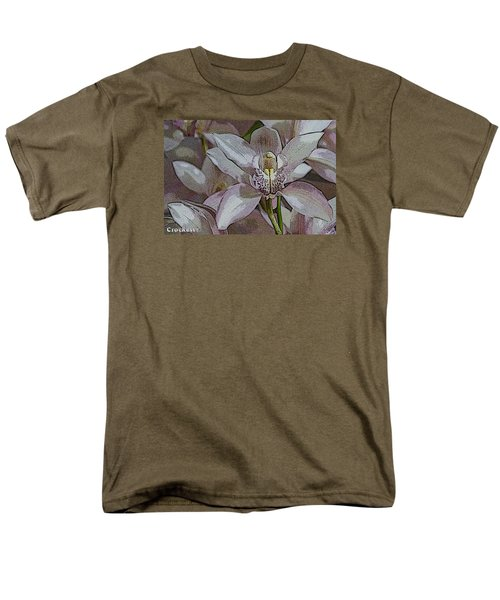 White Orchid Flower Men's T-Shirt  (Regular Fit)