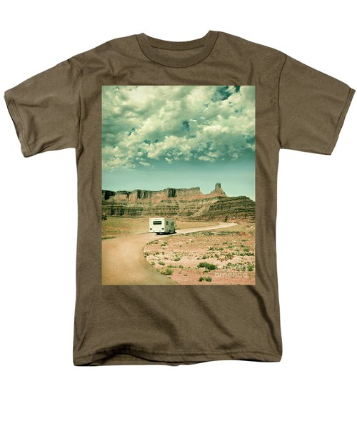 Men's T-Shirt  (Regular Fit) featuring the photograph White Rv In Utah by Jill Battaglia
