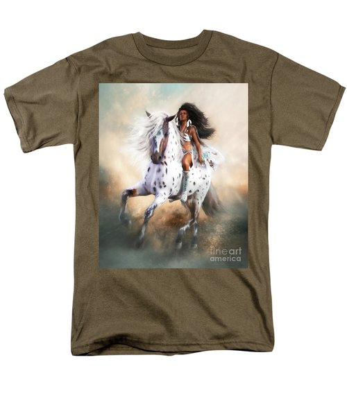 Men's T-Shirt  (Regular Fit) featuring the digital art White Storm by Shanina Conway