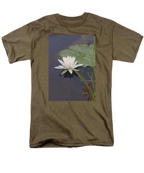 Men's T-Shirt  (Regular Fit) featuring the photograph White Water Lotus by Debra     Vatalaro