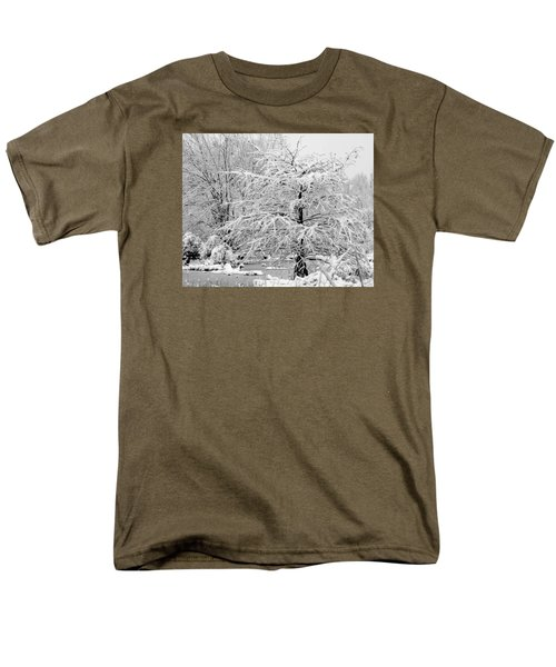 Men's T-Shirt  (Regular Fit) featuring the photograph Whiteout In The Wetlands by John Harding