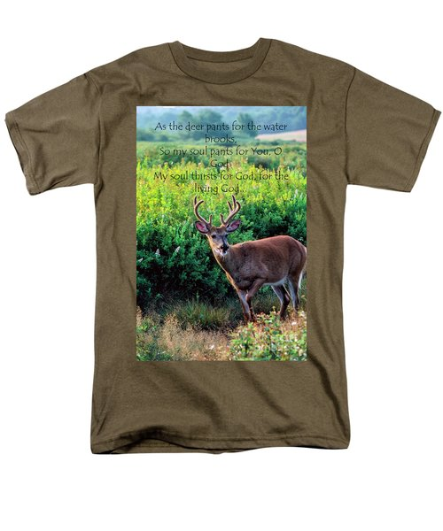 Men's T-Shirt  (Regular Fit) featuring the photograph Whitetail Deer Panting by Thomas R Fletcher