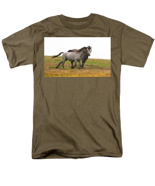 Men's T-Shirt  (Regular Fit) featuring the photograph Wild Horses by Kelly Marquardt