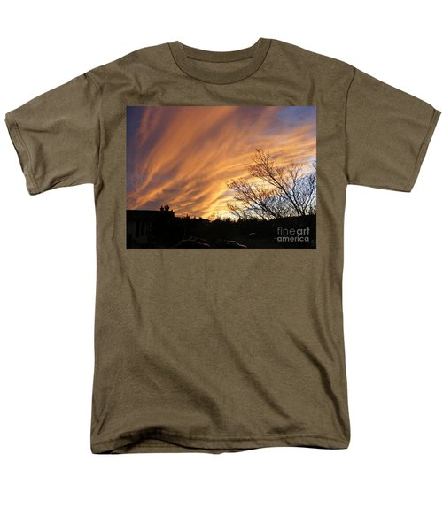 Wild Sky Of Autumn Men's T-Shirt  (Regular Fit) by Barbara Griffin