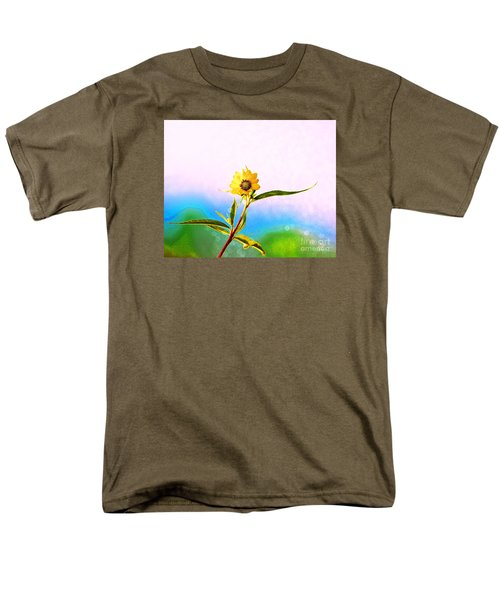 Men's T-Shirt  (Regular Fit) featuring the photograph Wild Sunflower by Lila Fisher-Wenzel