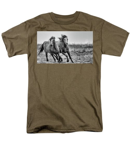Men's T-Shirt  (Regular Fit) featuring the photograph Wild West Wild Horses by Kelly Marquardt
