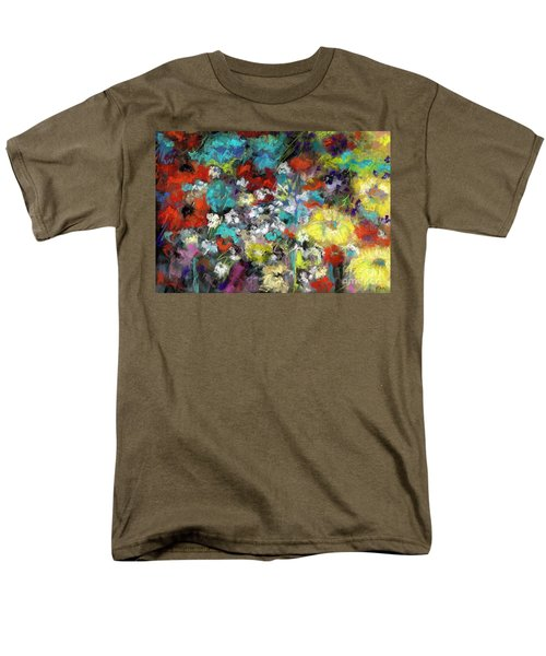 Wildflower Field Men's T-Shirt  (Regular Fit) by Frances Marino