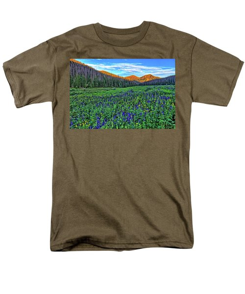 Men's T-Shirt  (Regular Fit) featuring the photograph Wildflower Park by Scott Mahon