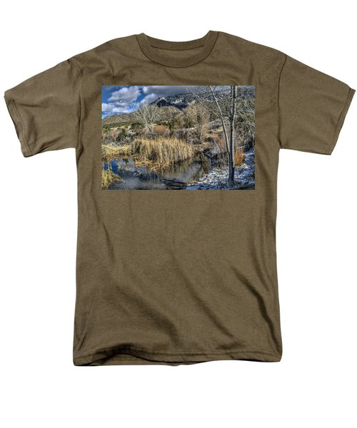 Men's T-Shirt  (Regular Fit) featuring the photograph Wildlife Water Hole by Alan Toepfer