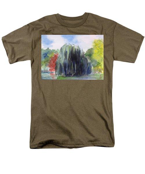 Willow Tree -2  Hidden Lake Gardens -tipton Michigan Men's T-Shirt  (Regular Fit) by Yoshiko Mishina