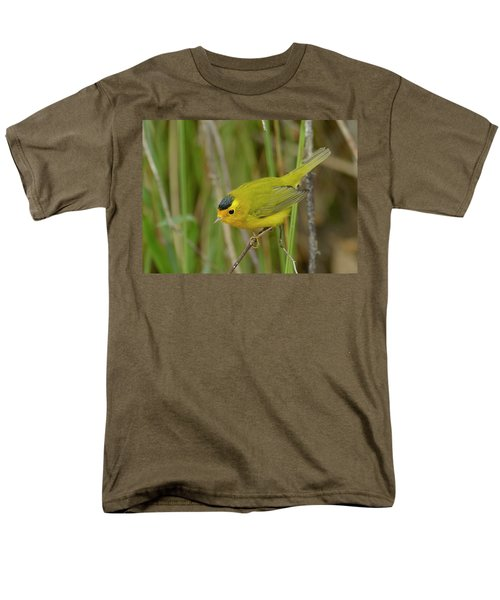 Wilson's Warbler Men's T-Shirt  (Regular Fit) by Doug Herr