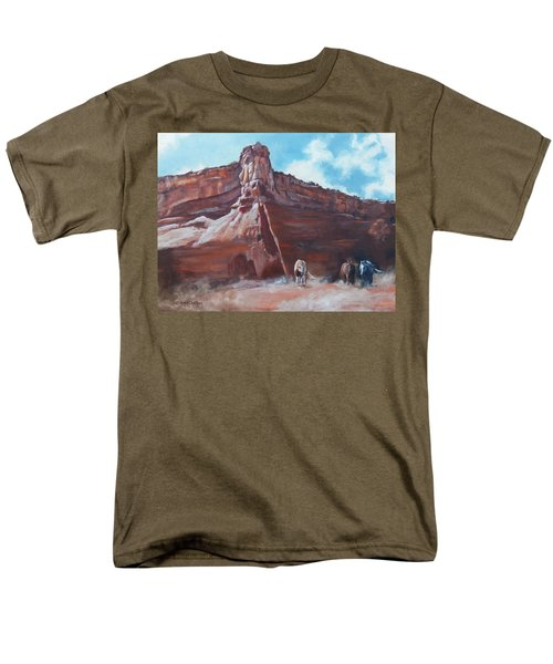 Men's T-Shirt  (Regular Fit) featuring the painting Wind Horse Canyon by Karen Kennedy Chatham