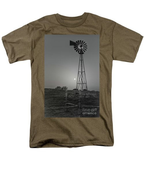 Men's T-Shirt  (Regular Fit) featuring the photograph Windmill At Dawn by Robert Frederick