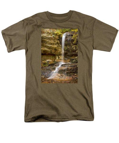 Window Falls In Hanging Rock State Park Men's T-Shirt  (Regular Fit) by Bob Decker