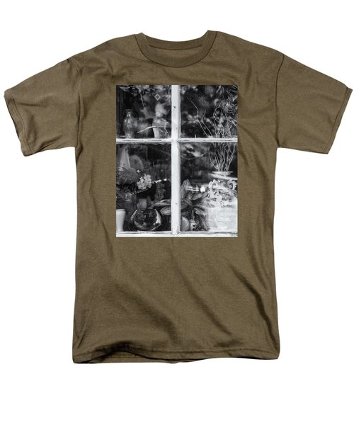 Window In Black And White Men's T-Shirt  (Regular Fit) by Tom Singleton