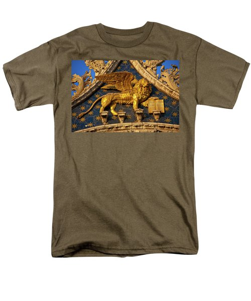 Men's T-Shirt  (Regular Fit) featuring the photograph Winged Lion by Harry Spitz