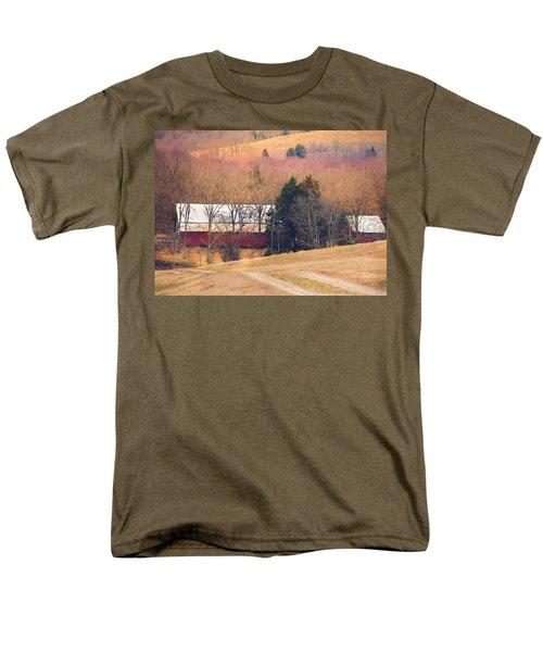 Winter Day On A Tennessee Farm Men's T-Shirt  (Regular Fit) by Debbie Karnes