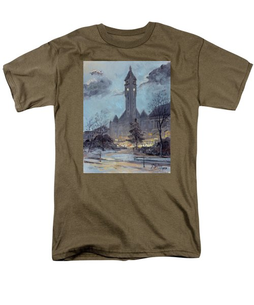 Winter Dusk - Union Station Men's T-Shirt  (Regular Fit) by Irek Szelag