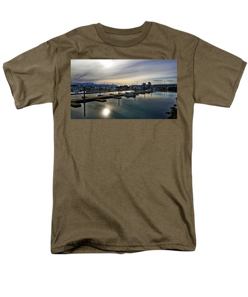 Men's T-Shirt  (Regular Fit) featuring the photograph Winter Harbor Revisited #mobilephotography by Chriss Pagani