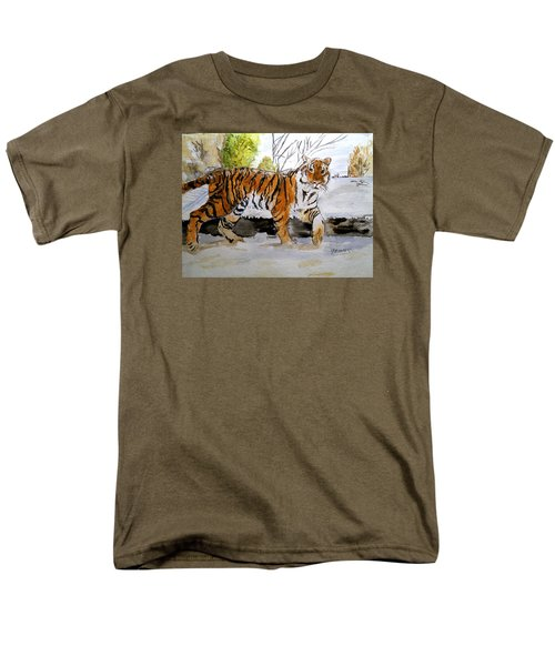 Winter In The Zoo Men's T-Shirt  (Regular Fit) by Carol Grimes