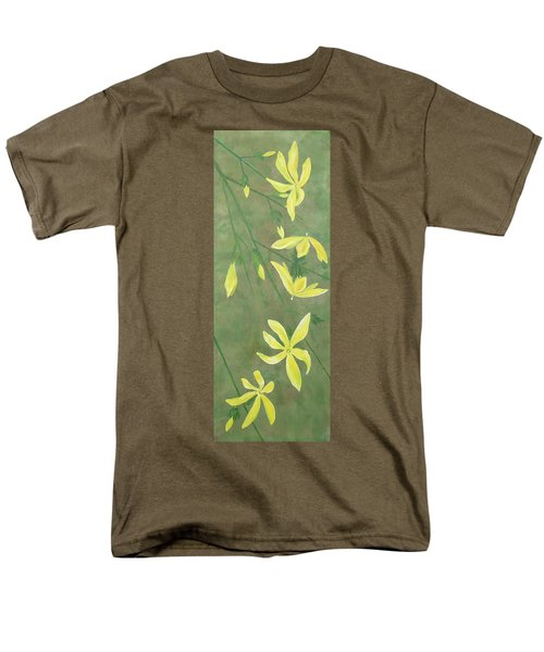 Men's T-Shirt  (Regular Fit) featuring the painting Winter Jasmine by Barbara Moignard
