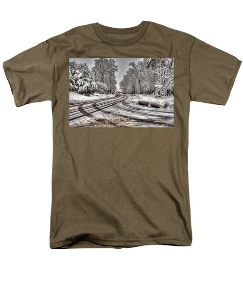 Tracks In The Snow Men's T-Shirt  (Regular Fit) by Alex Galkin