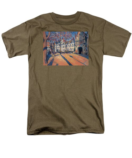 Winter Light At The Our Lady Square In Maastricht Men's T-Shirt  (Regular Fit) by Nop Briex