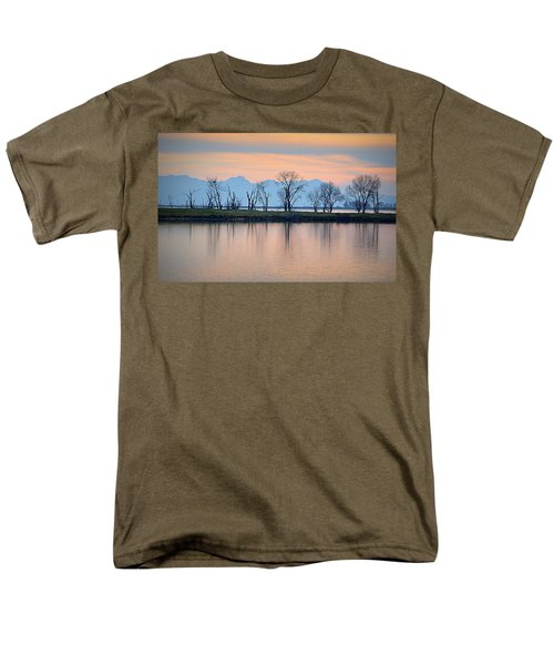 Men's T-Shirt  (Regular Fit) featuring the photograph Winter Reflections by AJ Schibig