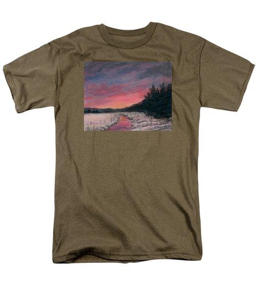 Men's T-Shirt  (Regular Fit) featuring the painting Winter Sundown by Kathleen McDermott