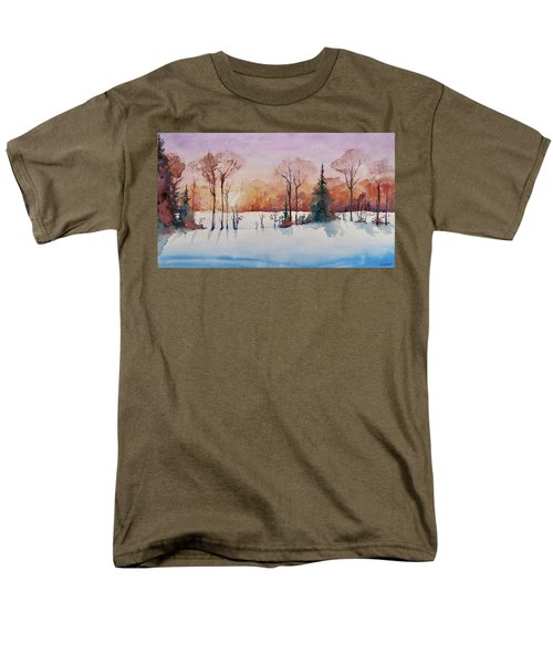 Men's T-Shirt  (Regular Fit) featuring the painting Winter Sunrise by Geni Gorani