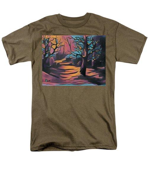 Winter Sunset Digital  Men's T-Shirt  (Regular Fit) by Megan Walsh