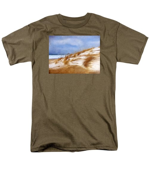 Men's T-Shirt  (Regular Fit) featuring the photograph Wintertime St. Joe Lighthouse  by Kathi Mirto