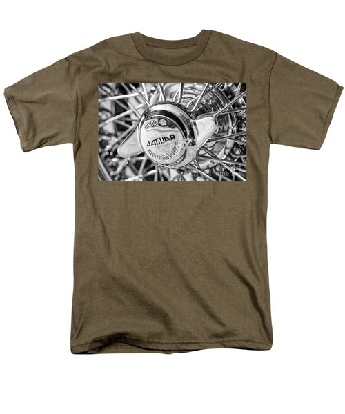 Men's T-Shirt  (Regular Fit) featuring the photograph Wire Wheel Black And White by Dennis Hedberg