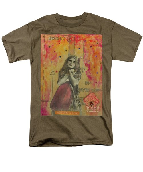 Men's T-Shirt  (Regular Fit) featuring the mixed media Wish Upon A Star by Desiree Paquette