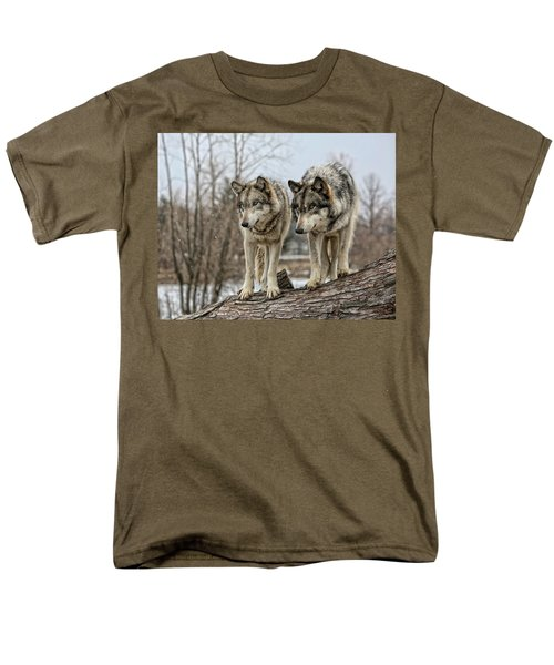 Men's T-Shirt  (Regular Fit) featuring the photograph Wolf Pair by Shari Jardina