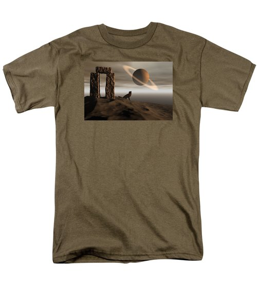Men's T-Shirt  (Regular Fit) featuring the digital art Wolf Song by Claude McCoy