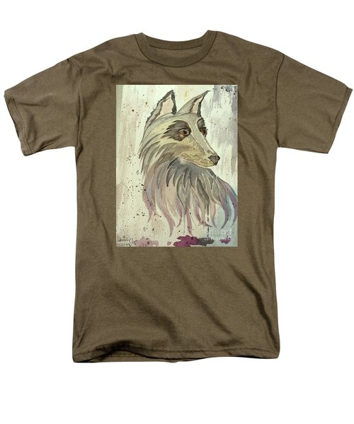 Men's T-Shirt  (Regular Fit) featuring the painting Wolfie by Denise Tomasura